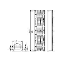 Лоток SUPER ЛВ-15.25.13 бетонный с решеткой щелевой чугунной (комплект)