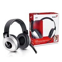 Headphone + Mic Genius HS-05A, full size headset w/Roll-up cable /