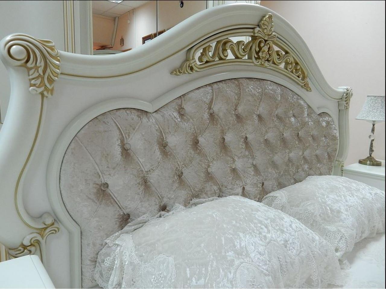 КАССАНДРА спальный гарнитур, 6Д/4Д, крем