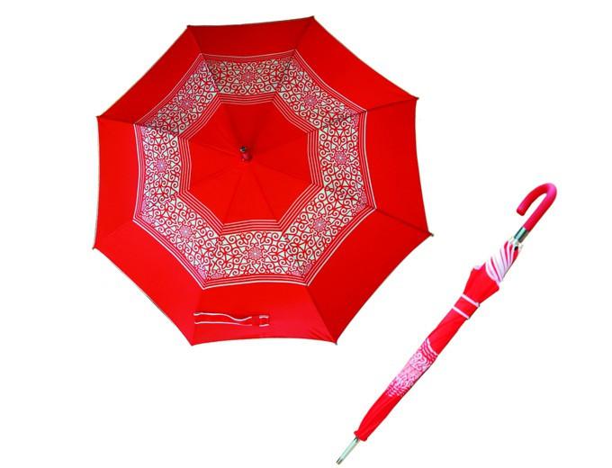 """Зонт - трость (23""""*14, цвета: синий, красный, коричневый) в национальном стиле"""