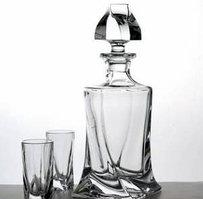 Набор для виски AREZZO 7 предметов богемское стекло, Чехия 99999/9/99S76/099. Алматы