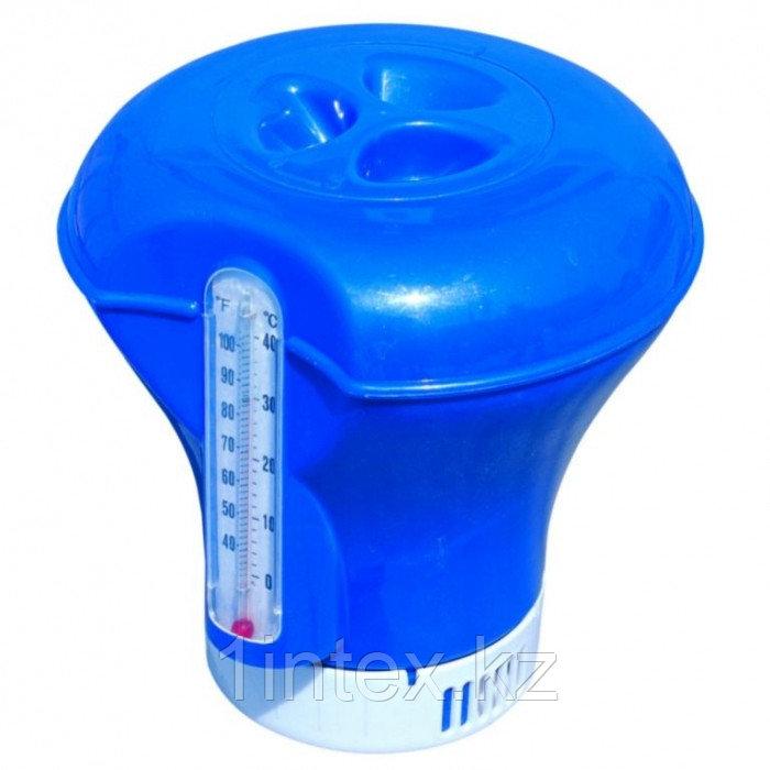 BestWay Поплавок-дозатор с термометром, 18,5 см, для химии в таблетках