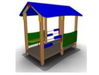 Игровой уличный Домик-беседка для детей Размеры: 2500х1725х2250мм