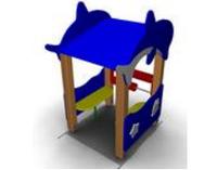 Детский игровой Домик-беседка «Дельфины» Размеры: 1170 x 965 x 1675мм