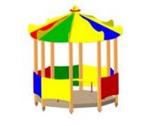 Детский уличный Домик-беседка «Цирк» Размеры: 2735 x 2735 x 3165мм