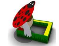 Детская игровая Песочница-беседка «Божья коровка» Размеры: 2020 x 2020 x 1790мм