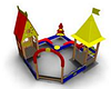 Песочный детский дворик «Башни» для улицы Размеры: 3775 x 3915 x 3545мм
