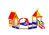 Песочный дворик с горкой «Белоснежка» Размеры: 4840х4325х4305мм