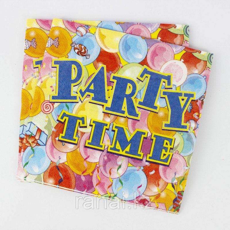 """Бумажные детские салфетки """"Party time """""""