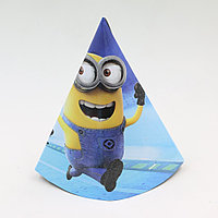 """Бумажный колпак на день рождения """"Минионы"""""""