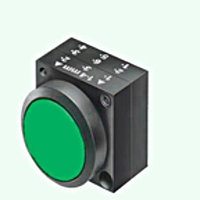 Кнопка зеленая, без фиксации
