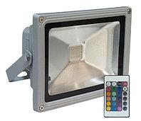 Цветной светодиодный прожектор 30W RGB влагостойкий IP65 с пультом ДУ, фото 1