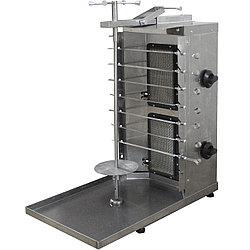 Шаурма-шашлычница газовая ШШГ-2-2 (515х770х875(895) мм, 220В, 2 газ.горелки, без мотора)