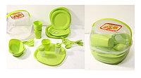 Набор пластиковой посуды для пикника
