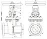 Задвижка стальная 30с76нж клиновая с выдвижным шпинделем фланцевая, фото 5