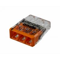 Клемма WAGO 2273-203 компактная 3-проводная сечением 2.5 мм, без пастой, набор 100 шт