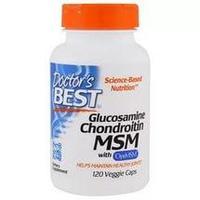 Doctor's Best, Глюкозамин + хондротин + MSM с OptiMSM, 120 капсул.