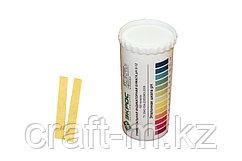 Бумага индикаторная 0-12 pH в тубе, 100 шт  Бумага изменяет цвет со светло-оранжевого в зависимости от уровня