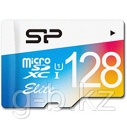 Silicon Power microSDXC Elite UHS-1 class 10, 128 Gb with adapter /