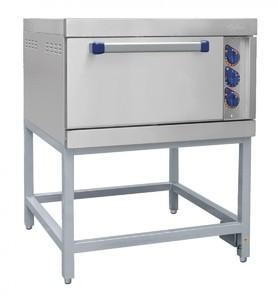 Шкаф жарочный ШЖЭ-1 стандартная духовка, подставка 840x897x1040 мм.,/лицев. нерж/