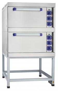 Шкаф жарочный ШЖЭ-2-01 нерж. духовка, подставка 840x897x1475 мм., /лицев. нерж/