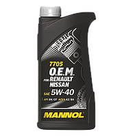 MANNOL O.E.M. for Renault Nissan 5W40 SN/CF 7705  1L
