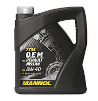 MANNOL O.E.M. for Renault Nissan 5W40 SN/CF 7705  4L