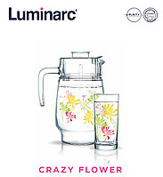 Графин со стаканами Luminarc Crazy Flower (7пр)