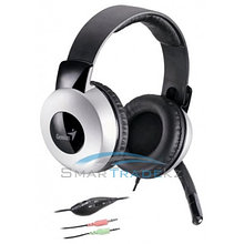 Наушники + Mic Genius HS-05A, full size headset w/Roll-up cable
