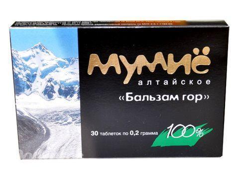 Мумие алтайское Бальзам гор, 30таб