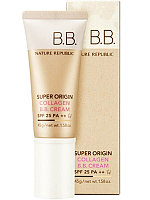 Увлажняющий BB-крем для всех типов кожи Nature Republic Super Origin Collagen BB Cream, SPF25/PA++ 45мл