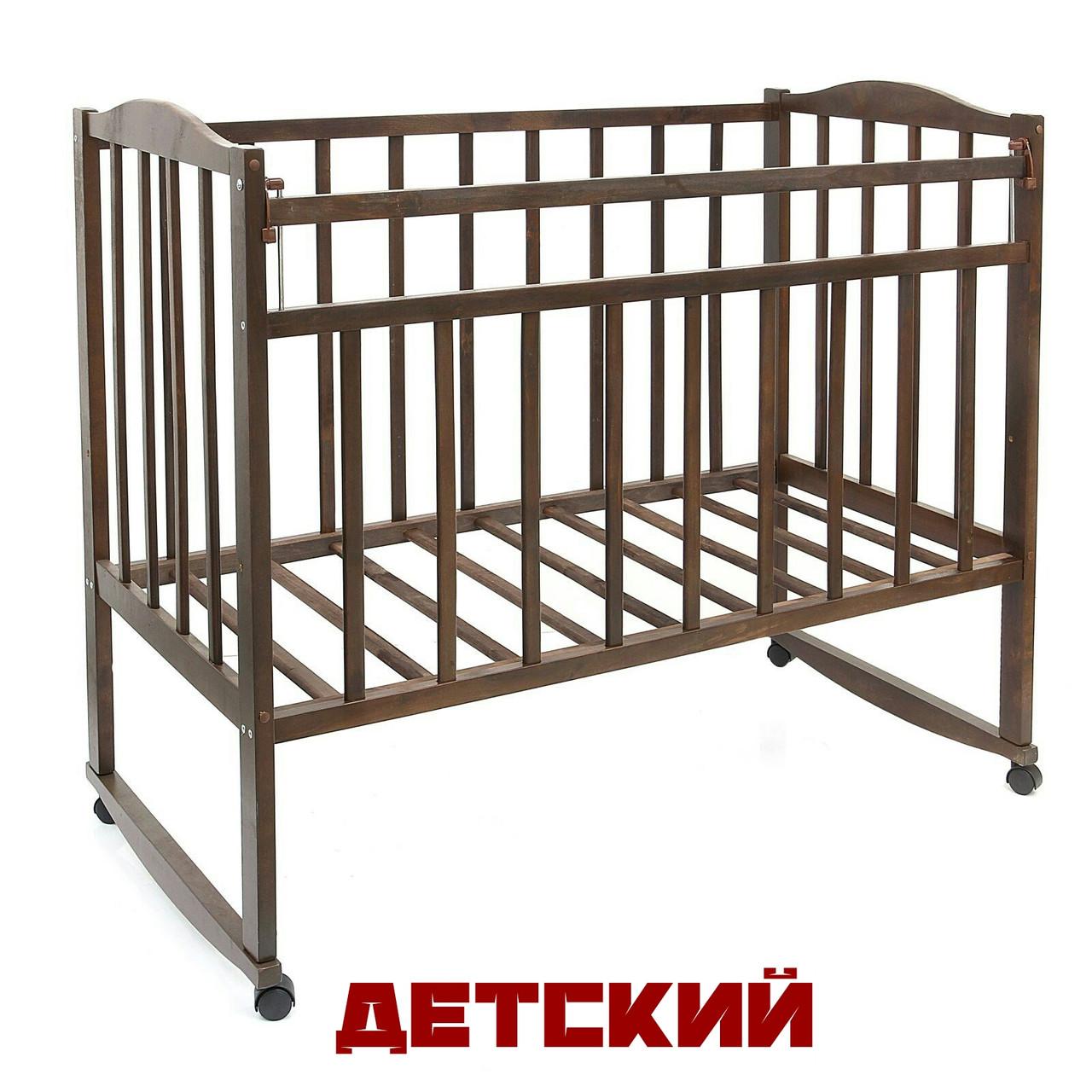 Детская кроватка ВДК, Россия (цвет орех)