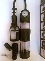 Вакуумная помпа с манометром и с вибрацией для увеличения пениса