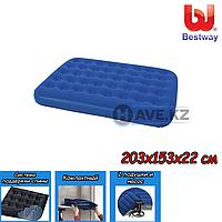 Двухспальный надувной матрас Bestway 67374 - 203х153х22 см, с насосом и подушками, фото 1