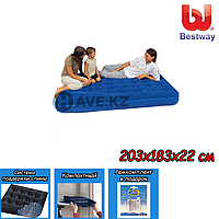 Двухспальный надувной матрас Bestway 67004, размер 203х183х22 см, фото 1