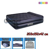 Двухспальный надувной матрас Intex 66720, Queen Rising Comfort, размер 203х152х42 см, фото 1