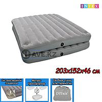 Двухспальный надувной матрас Intex 67744, размер 203х152х46 см, фото 1