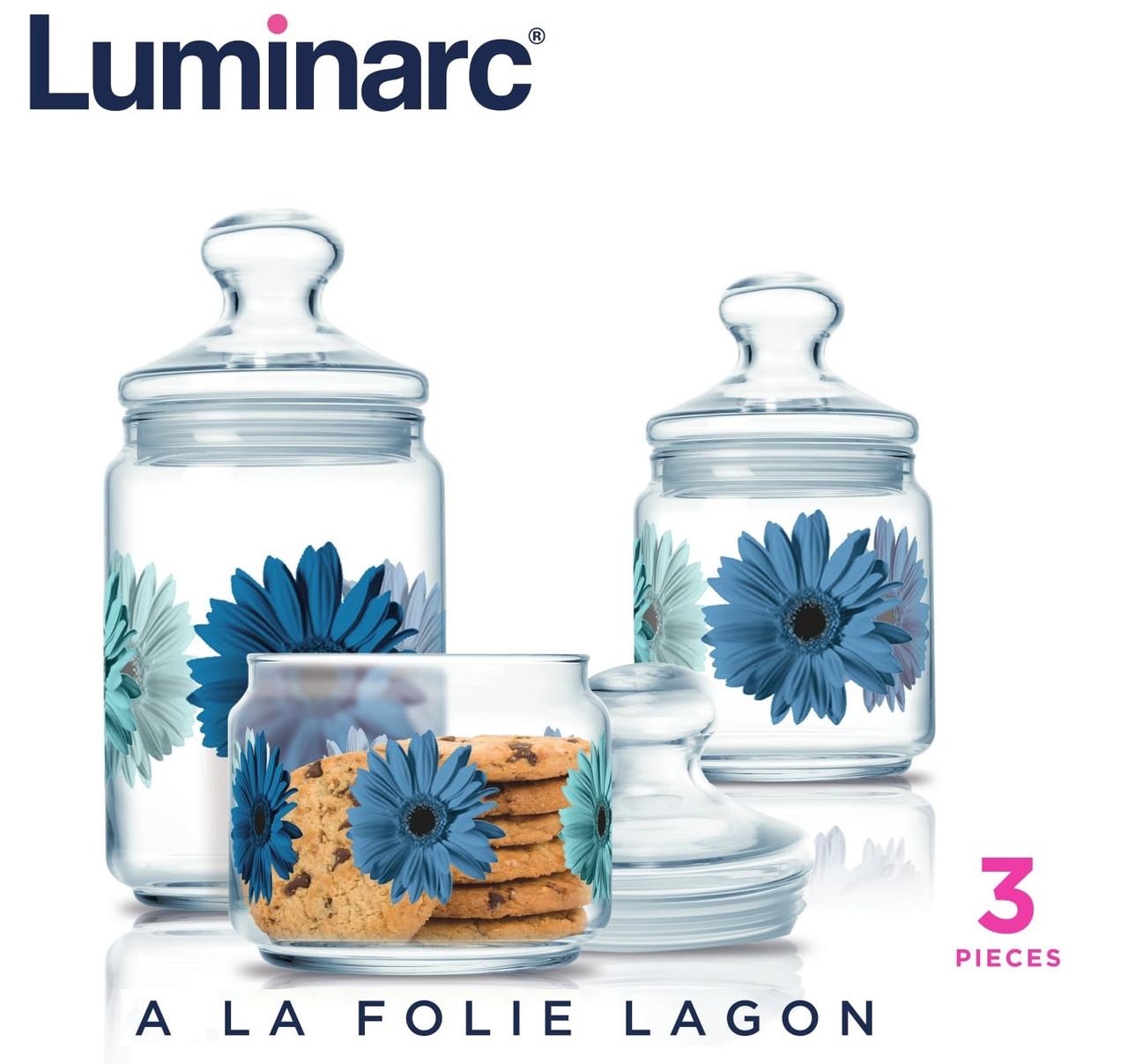 Набор банок Luminarc A La Folie Lagon  (3 пр.)