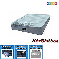 Двухспальный надувной матрас Intex 67770, размер 203х152х33 см, фото 1