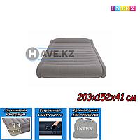 Двухспальный надувной матрас Intex 67726, размер 203х152х48 см, фото 1