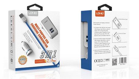 Зарядное устройство LDNIO 3 in 1 S100, фото 2