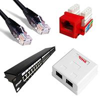 Розетки, кабели и коммутационные панели (патч-панели ) ,патч-корды, коннекторы