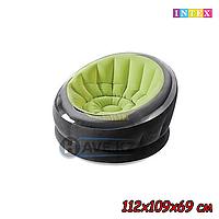 Надувное Кресло INTEX 68581, черно-зеленый (112х109х69 см)