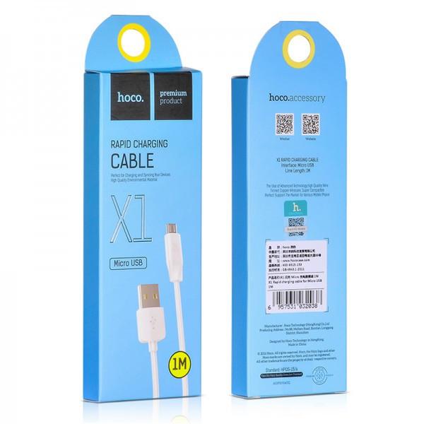 Кабель Hoco X1 Micro USB 2M