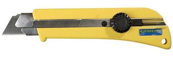 """(09173) Нож STAYER """"PROFI"""" с выдвижным сегментированным лезвием, 25мм"""