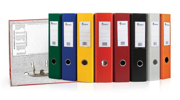 """Папка-регистратор  """"Eco"""" А4 с бок. карманом, 70мм Forpus, цвет в ассортименте"""