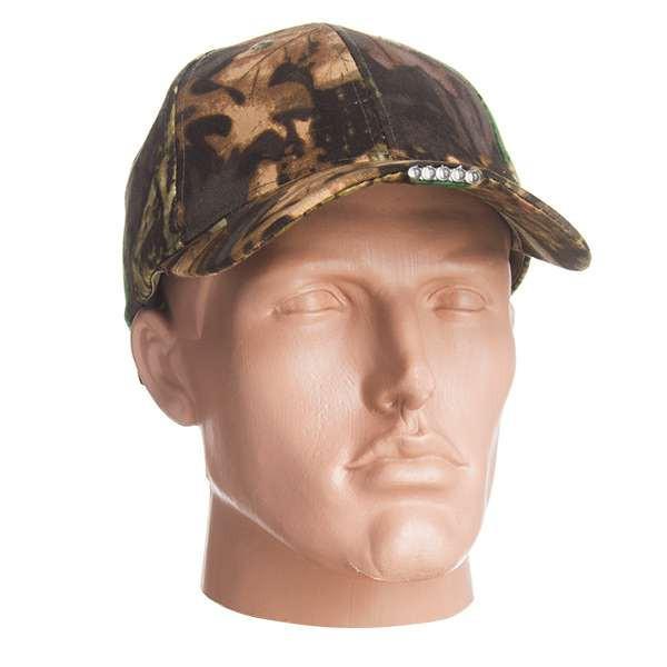 Камуфляжная кепка с фонариком