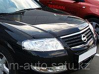 Мухобойка\дефлектор капота на Nissan Almera Classic\Ниссан альмера Классик 2005-2012