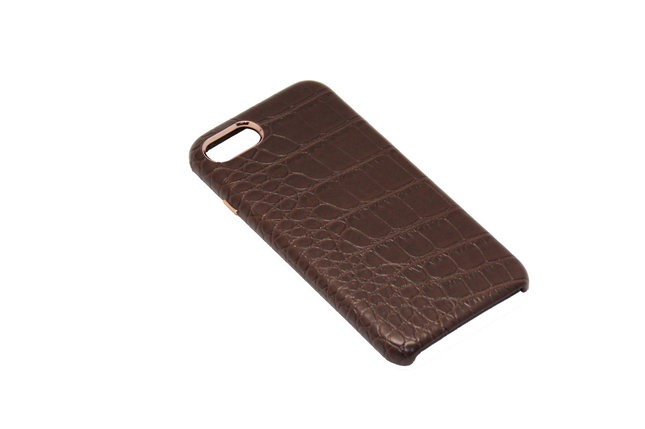 Чехол OCCA Croco Brown кожаный iPhone 7 Plus, фото 2