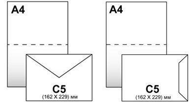 Конверты С-5 162*229,белый 80гр, отрывная лента, клапан по короткой стороне, фото 2